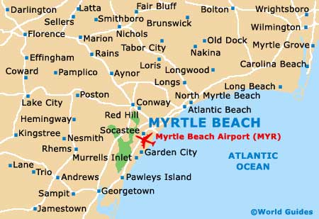 Small Myrtle Beach Map