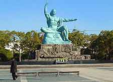 Picture of famous statue within the Peace Park