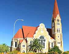 Image of the eye-catching Christ Church (Christuskirche) in Windhoek