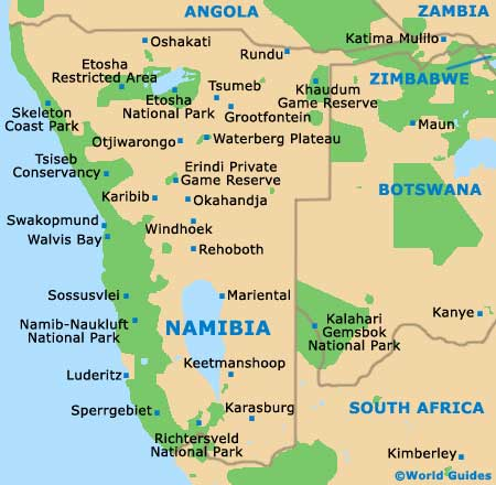 Small Namibia Map