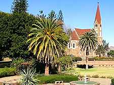 Image of Windhoek's Christ Church and Parliament Gardens