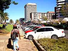 View of a busy Windhoek street