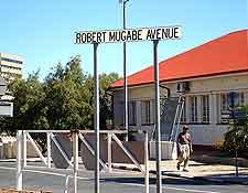 View of Robert Mugabe Avenue