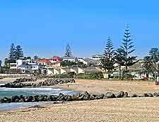 Beachfront picture taken at the seaside city of Swakopmund
