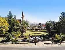 View of the Parliament Gardens at Windhoek