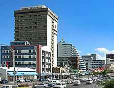 Photograph of traffic in central Windhoek