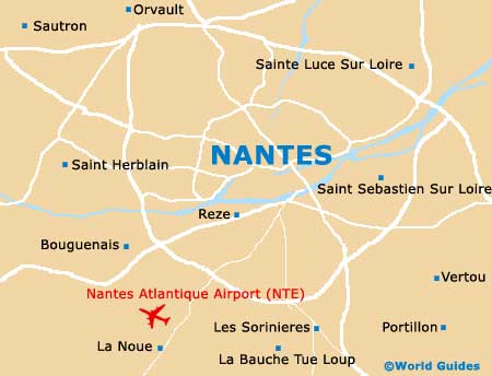 Map of Nantes Atlantique Airport NTE Orientation and Maps for NTE