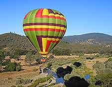 Close-up photo showing hor-air balloon flight