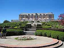 Photo of the imposing Domaine Carneros mansion