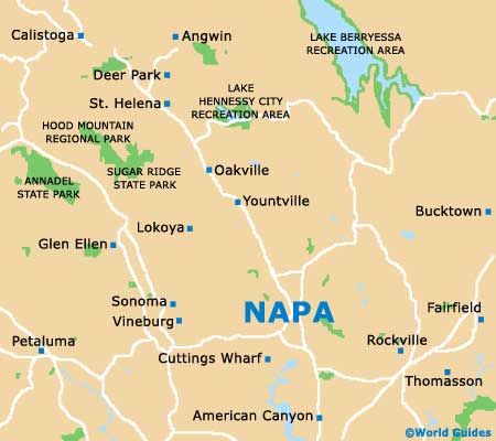 Small Napa Valley Map