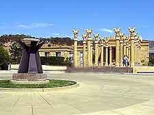Photo of unusual vineyard entrance in the Californian sunshine