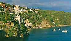 Sailing off the Naples' coastline