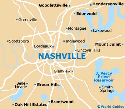 Nashville Maps and Orientation: Nashville, Tennessee - TN, USA