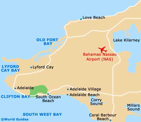 Map of Nassau Lynden Pindling Airport NAS Orientation and Maps