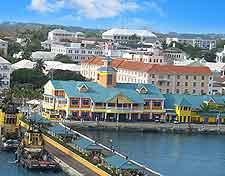 Image of waterfront attractions in Nassau