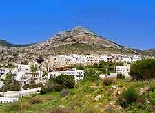 Photograph showing the Apiranthos Village