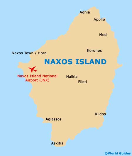 Small Naxos Map