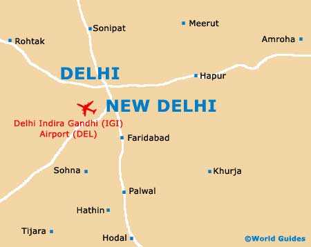 Small New Delhi Map