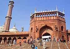 Photo of the New Delhi Jama Masjid mosque