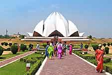 Famous New Delhi Lotus Temple, aka the Bahai Temple