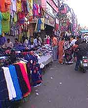View of market held in the Karol Bagh neighbourhood
