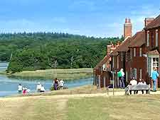 Different picture of waterfront at Bucklers Hard