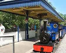 Picture of steam train railway at Exbury