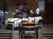 Photo of exhibits at the Beaulieu National Motor Museum