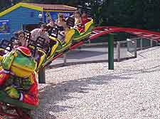 Paultons Park picture, showing roller coaster