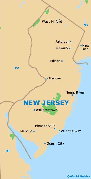 New Jersey NJ State Map
