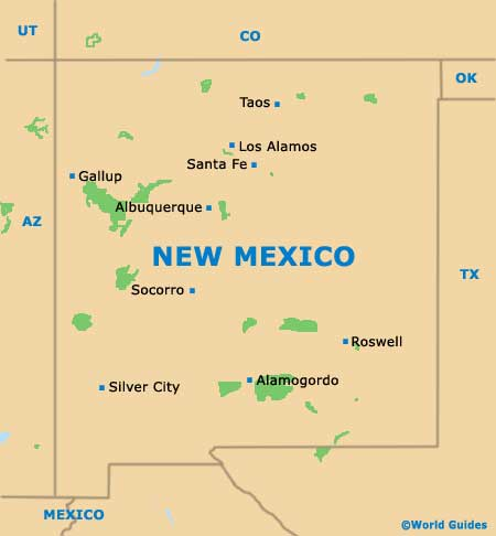 New Mexico NM State Map