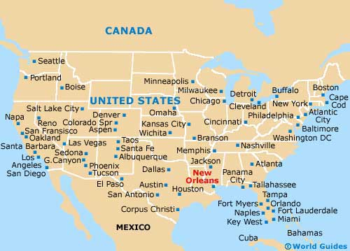 Where Is New Orleans Located New Orleans Location In US Map New - New orleans in map of usa