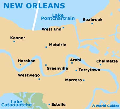 Louisiana New Orleans Map.New Orleans Maps And Orientation New Orleans Louisiana La Usa