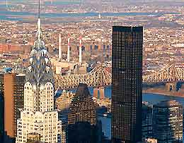 View of New York featuring the Chrysler Building