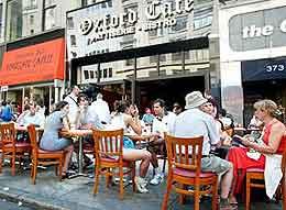 New York sidewalk cafes