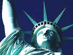 Image of New York's iconic Statue of Liberty
