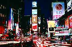 Night view of Times Square