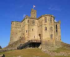 Image of Warkworth Castle nearby Newcastle