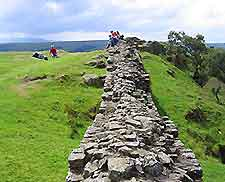 Walking along Hadrian's wall is a popular activity for visitors to the ...: newcastle.world-guides.com/newcastle_photos2.html