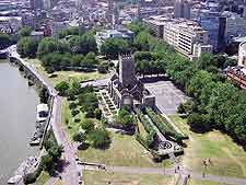 Aerial photo of the Castle Park area