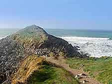 Picture showing the South Wales coastline