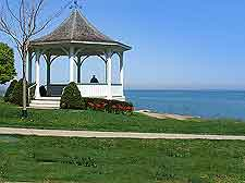 Photo of lakefront park and gazebo