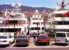 Nice Airport (NCE) Airlines and Terminals: Image of ferries at the city's port