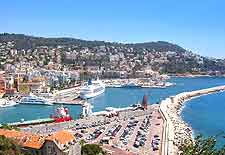 View of the Port district in Nice