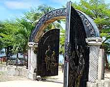 Photo of historic gateway at the slave port of Badagry