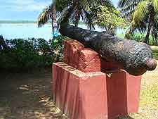 Image of old cannon at the slave port of Badagry
