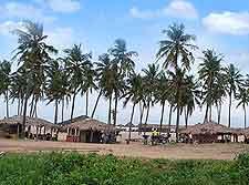 Coastal view of Nigerian resort