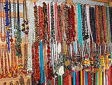 Image showing colourful necklaces at Lagos market