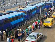 Photograph of Lagos bus transport