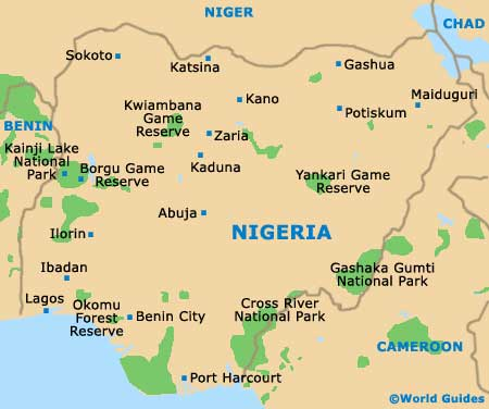 Nigeria maps and orientation nigeria west africa map of nigeria gumiabroncs Image collections